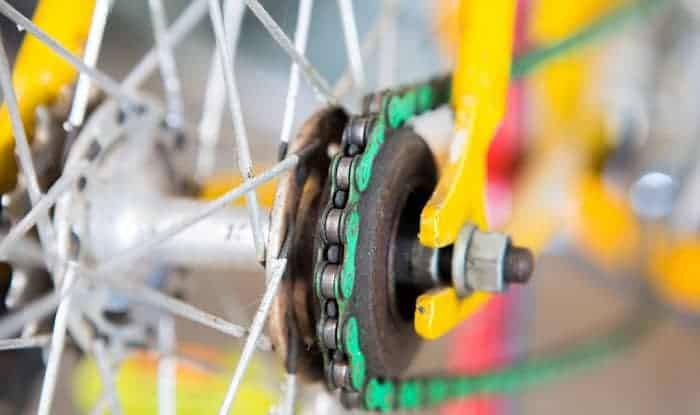 how to put a bicycle chain back on