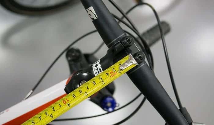 how to measure a bike stem