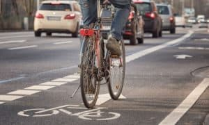 when can you drive in a bike lane