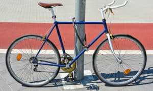 where to put your bike lock while riding