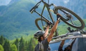 how to put a bike rack on a car